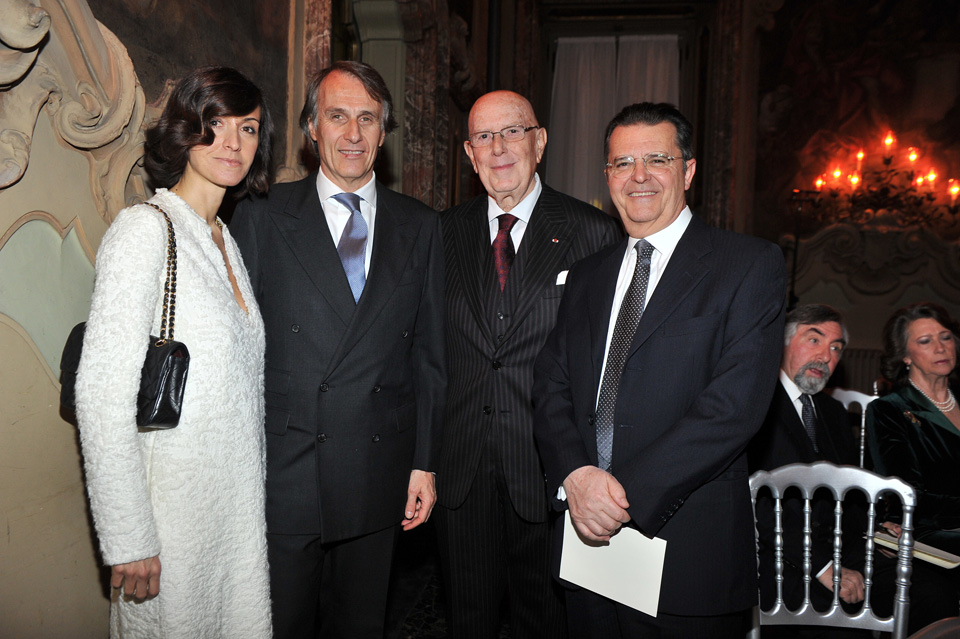 Mme Nicodano, Umberto Nicodano, Mario Boselli, Silvano Boroli